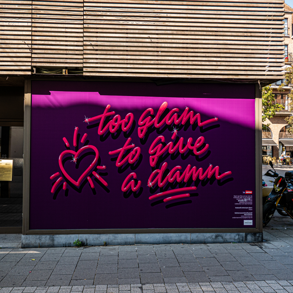 INSTAWALL 'TOO GLAM TO GIVE A DAMN' & ' .... + …. = LOVE'